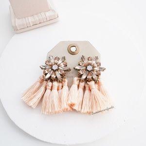 Anthropologie BaubleBar Crystal Fringe Earrings